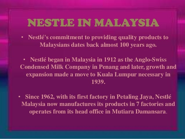 nestle case study international business Case study nestlé in the case study, nestle the implications of acquiring l'oreal and alcon labs are diversions for their core business yet nestle.