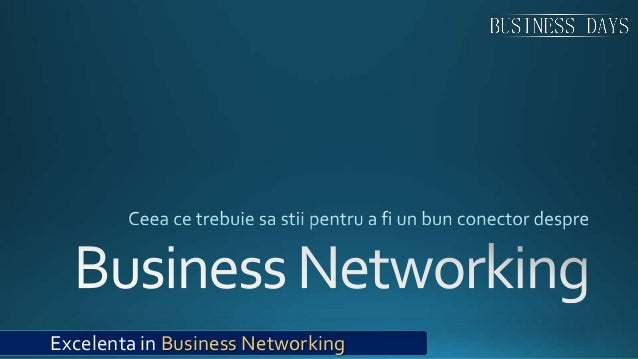 Excelenta in Business Networking