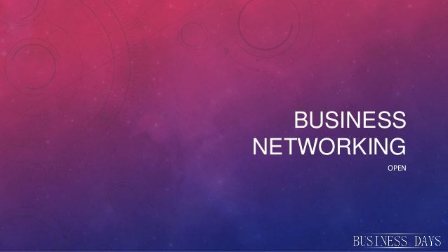 Business networking de tipul open