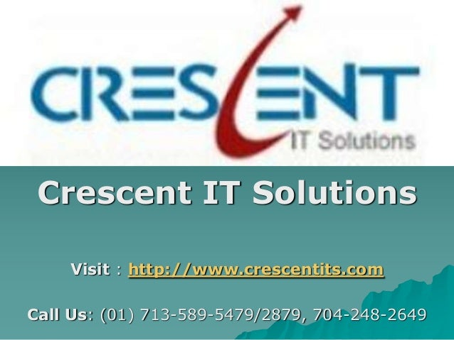 Business objects Online Training and Placement @ Crescent IT Solutions