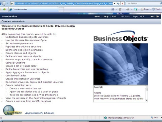 Business Objects Designer