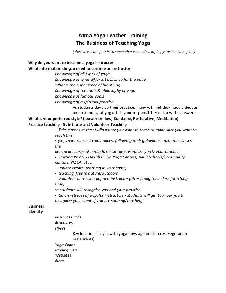 Business of teaching yoga pdf