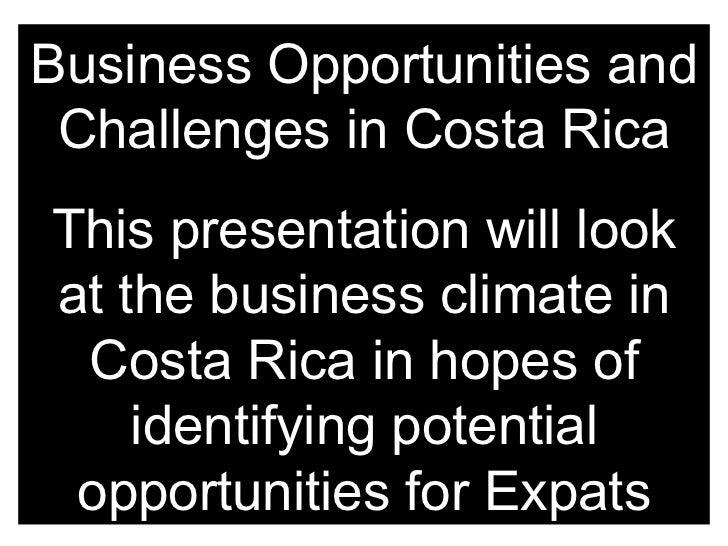 Business opportunities in costa rica