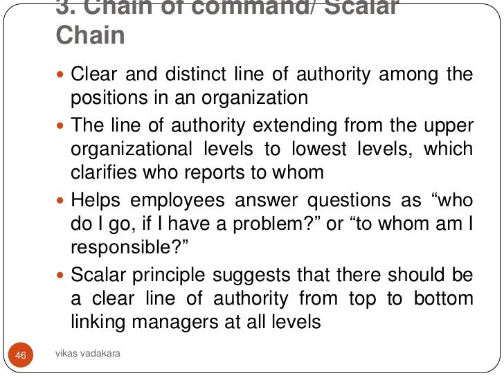 the chain of command paper