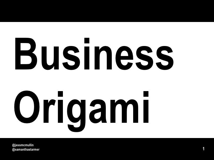 Business Origami - paper prototyping for systems and service design