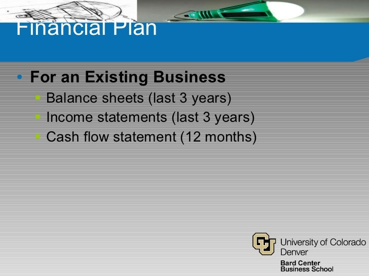 Business plan existing business