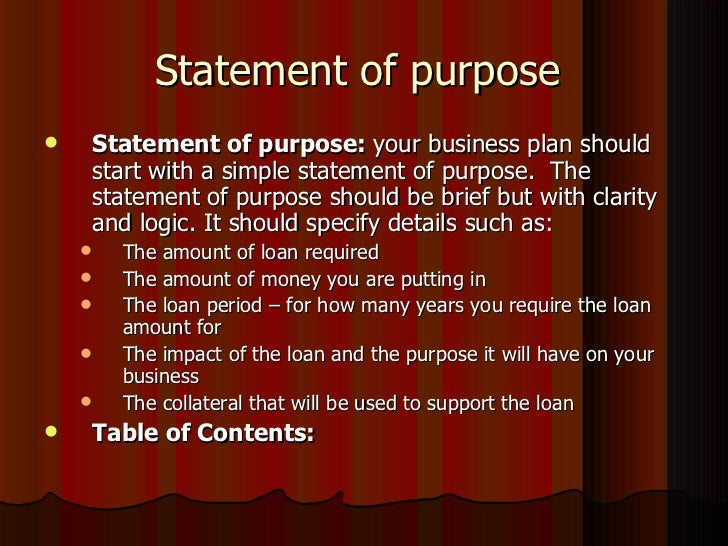 Essay about Statement of Purpose