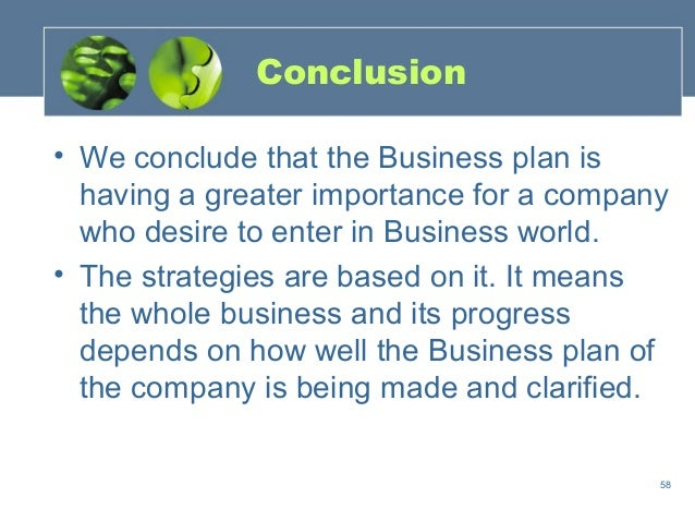 Conclusion for a business plan