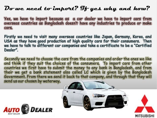 Used car dealership business plan
