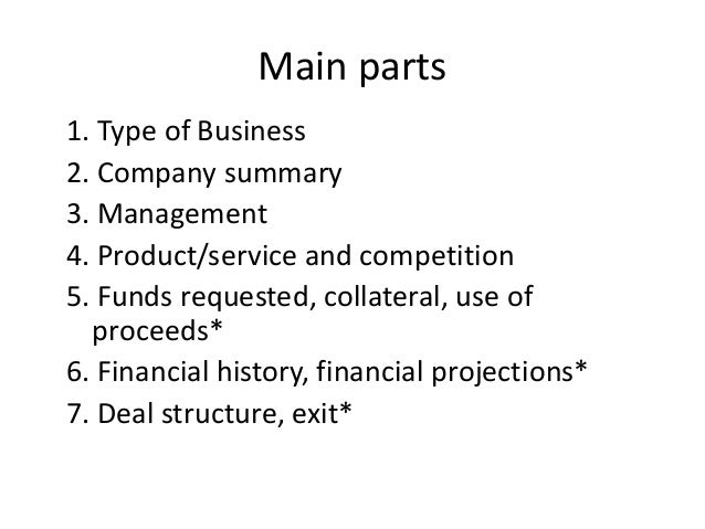 Type of business plan