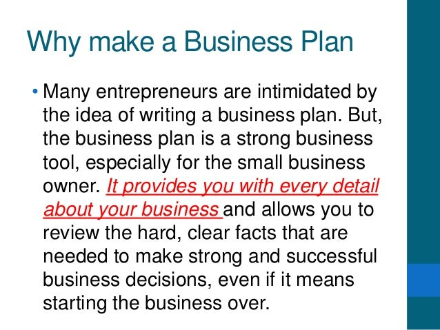 How can i make a detailed business plan?