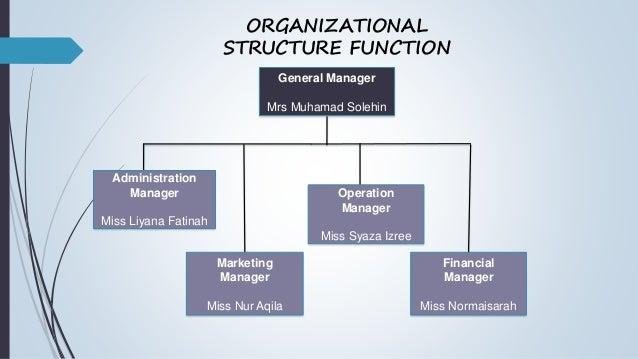 Organizational structure business plan