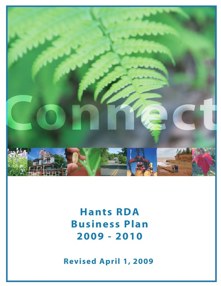 Connect     Hants RDA    Business Plan     2009 - 2010    Revised April 1, 2009