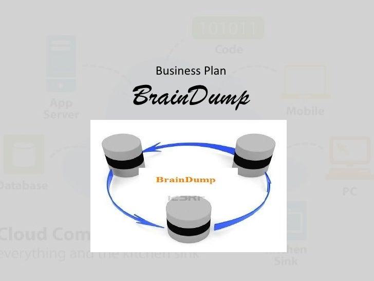 Business plan brain dump