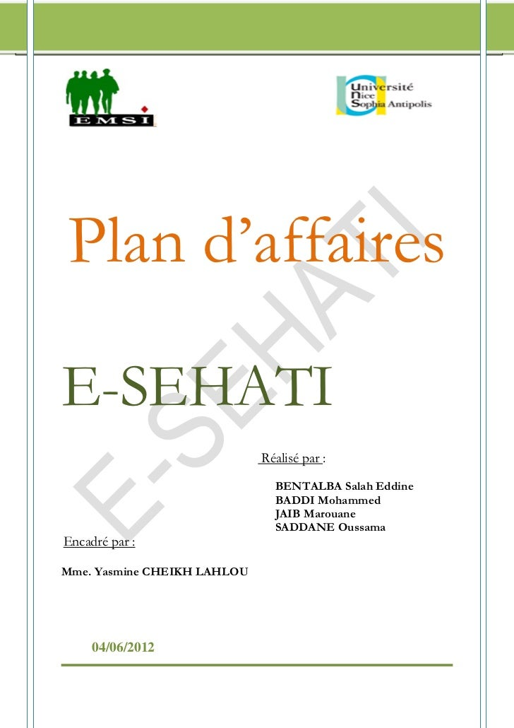 Plan d'affaires E-SEHATI