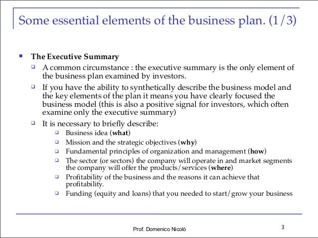 Business plan for a startup