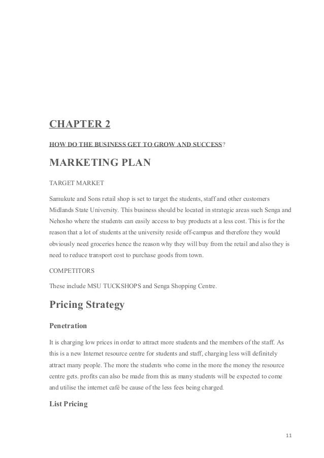 How to do a business plan outline