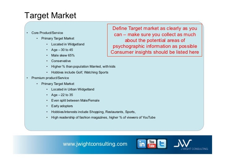 Business plan target market example