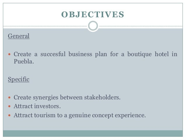 Boutique hotel business plan example flashek Choice Image