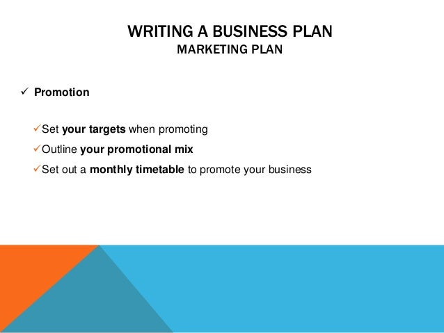 Promotions company business plan