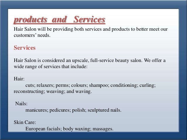 Business plan beauty salon