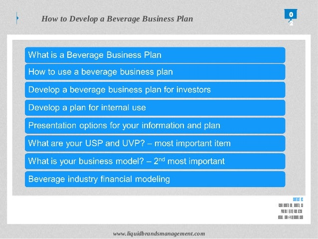 Free business plan beverage company