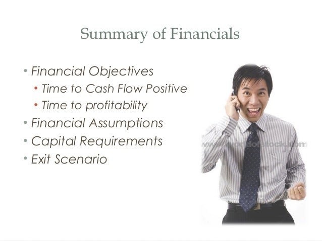 How to make a financial plan for a business