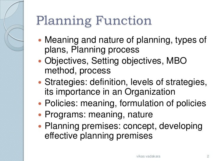 The Business Definition of Intermediate Planning