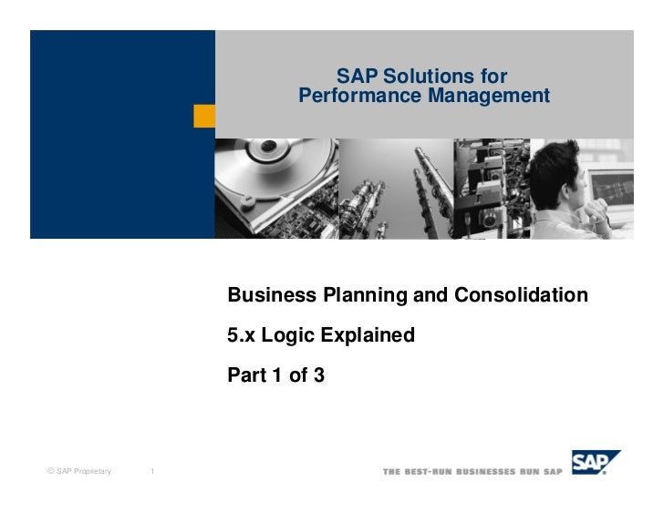 Business planning and consolidation