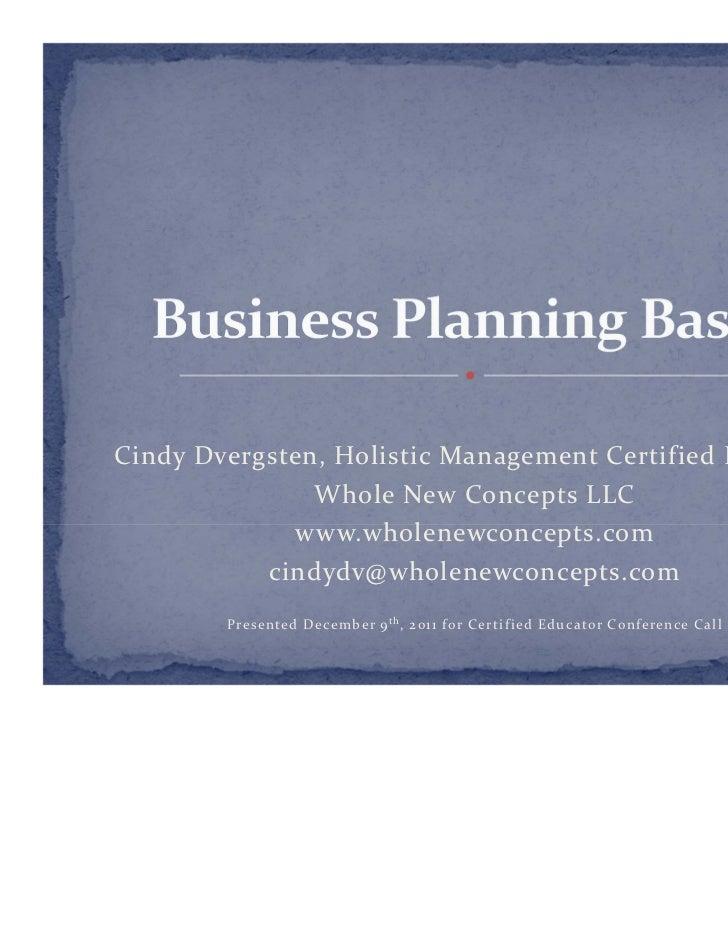 CindyDvergsten,HolisticManagementCertifiedEducator               WholeNewConceptsLLC             www.wholenewconce...