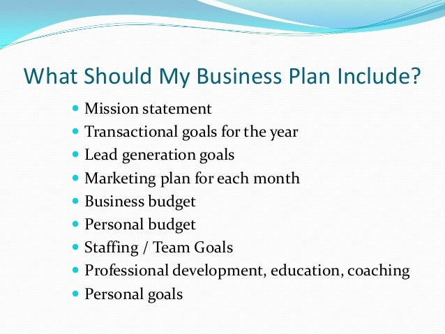 What Do You Include In A Business Plan