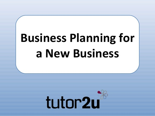Business Planning for a New Business