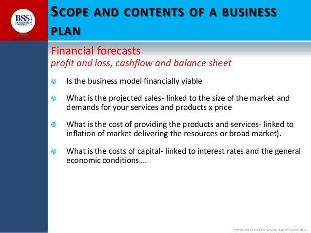 Business plan finance