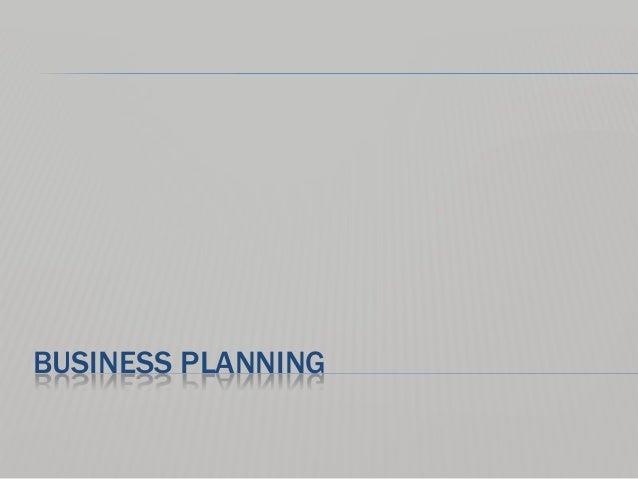 Business planning primer