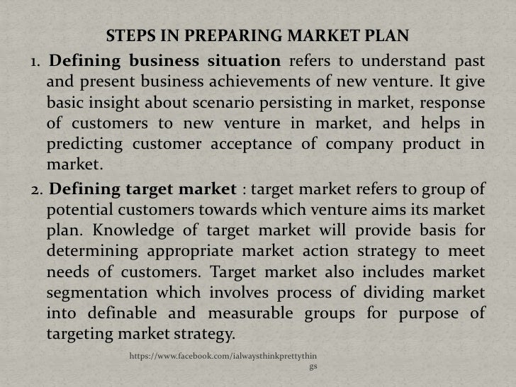 Steps in making a business plan