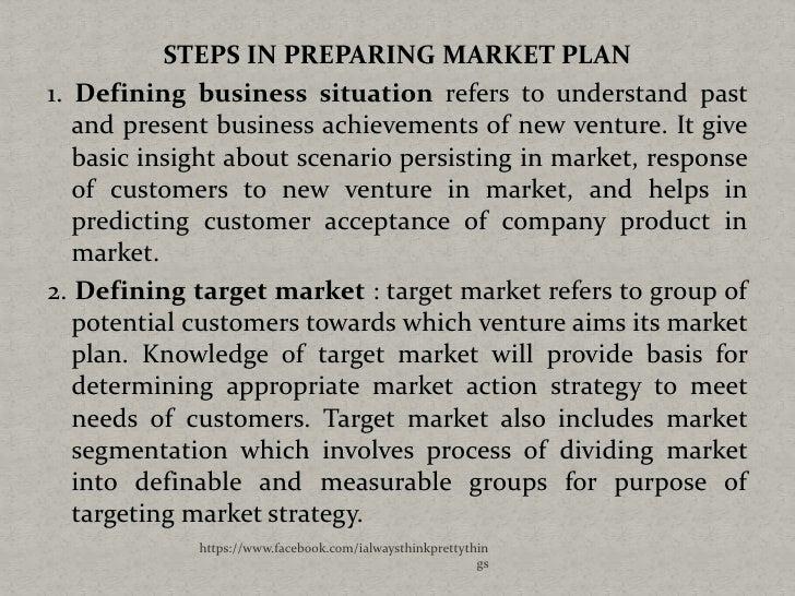 Steps in preparing a business plan