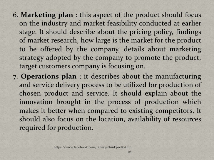 Marketing aspect of business plan