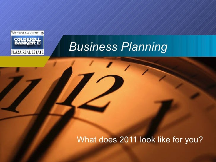 Business Planning What does 2011 look like for you?