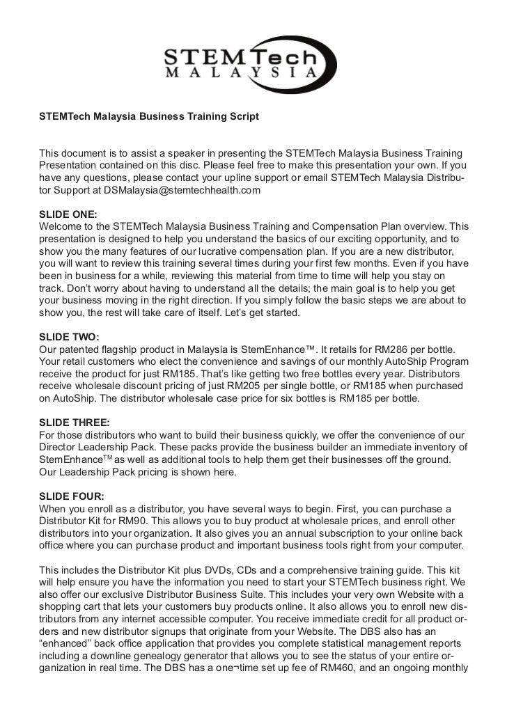 Business plan of stemtech 2