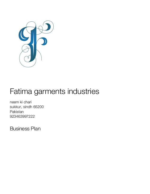 Garments business plan