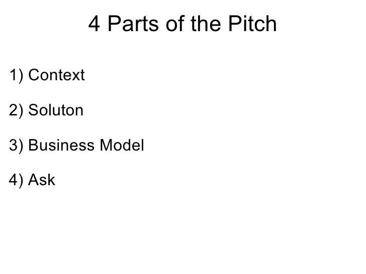 Business plan pitch