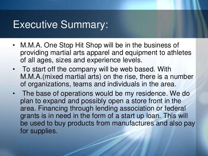 Martial arts school business plan