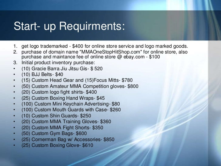 Online shop business plan ppt