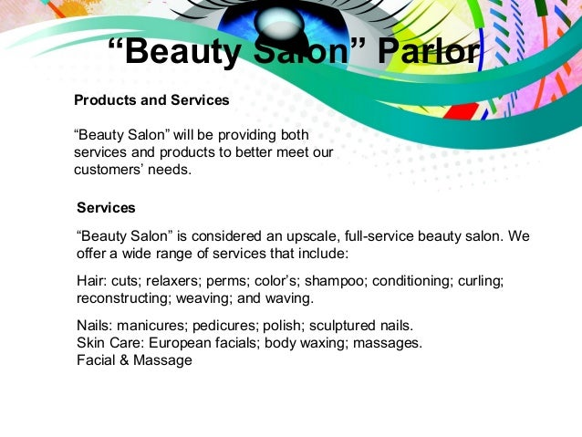 Business plan presentation beauty salon parlor for A business plan for a beauty salon