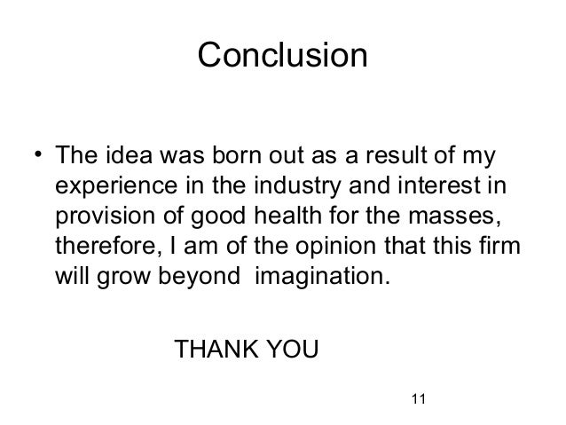 Conclusion for business plan