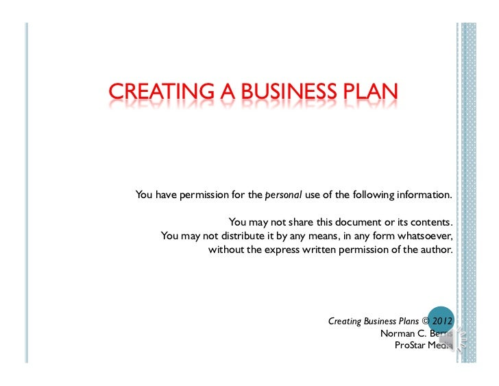 Show me a business plan
