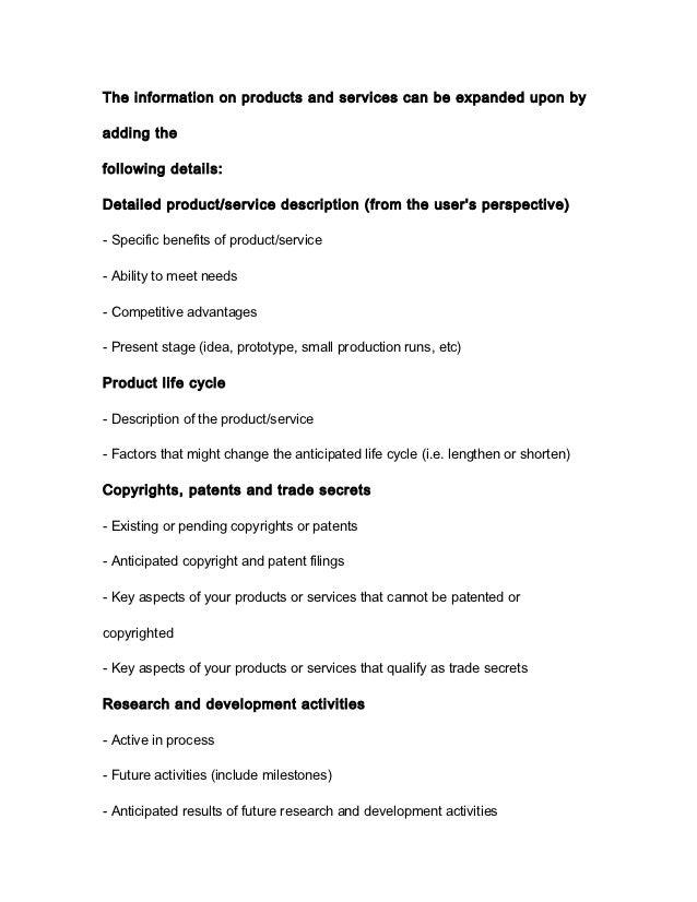business description template
