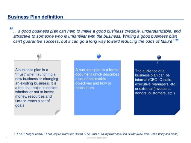 Business plan for buying an established business
