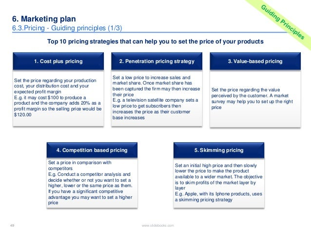 product business plan sample