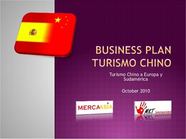Plan de negocio: Turismo Chino